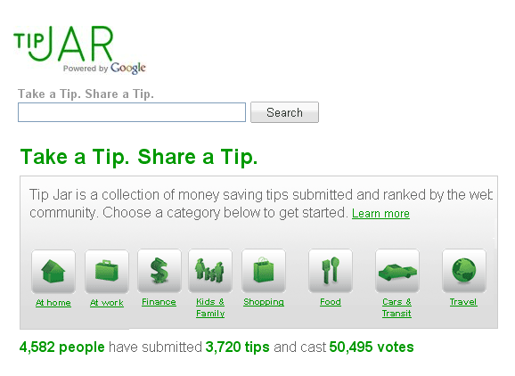 tipjar   TipJar: Huge Database Of Money Saving Tips And Tricks