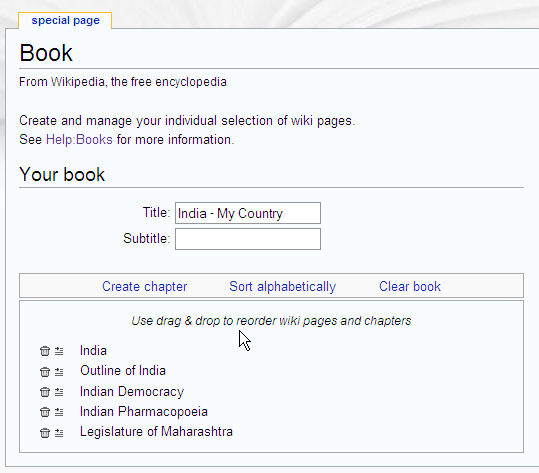 How To Make Your Own Books From Wikipedia title