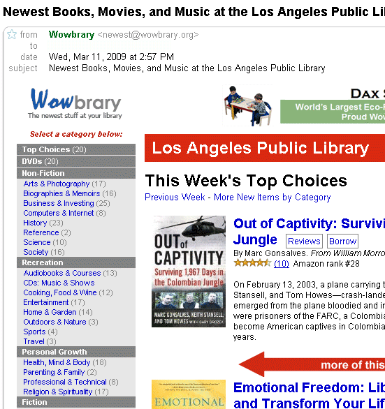 wowbrary   Wowbrary: Get Alerts on New Book Arrivals From Your Library