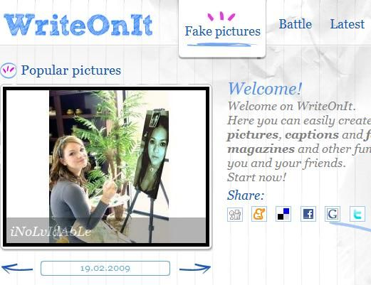writeonit   WriteOnIt: Create Fake Photos, Captions and Magazines