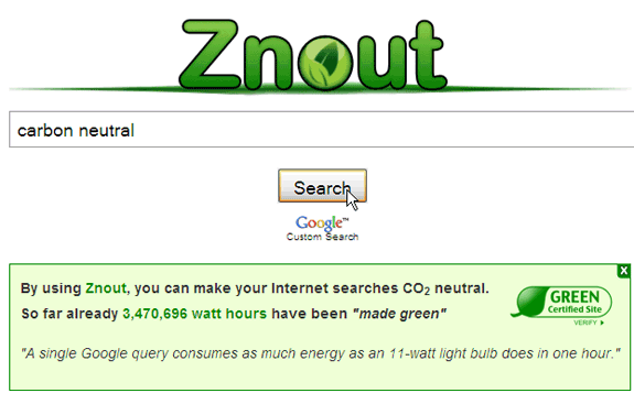 10 Search Engines to Help the Environment znout