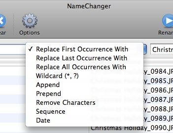 Batch Rename Your Files Easily - Mac Style (Mac Only) 02 choices of rules