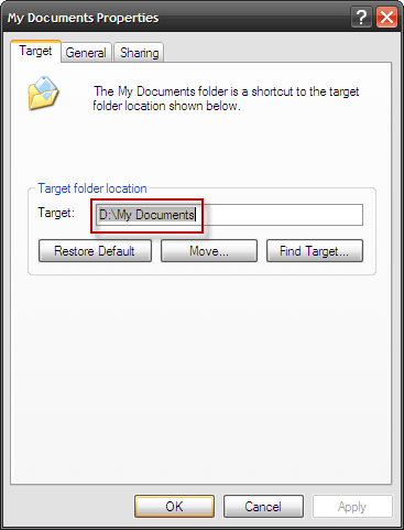 How To Move My Documents Folder To A Different Drive 3 new location