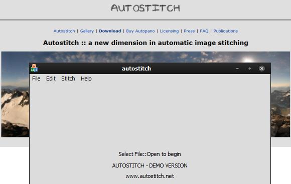 autostitch vista