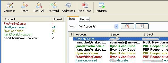 Check All Emails & Get Email Alerts with POP Peeper (Windows) display12