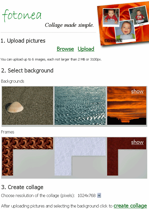 online collage creator