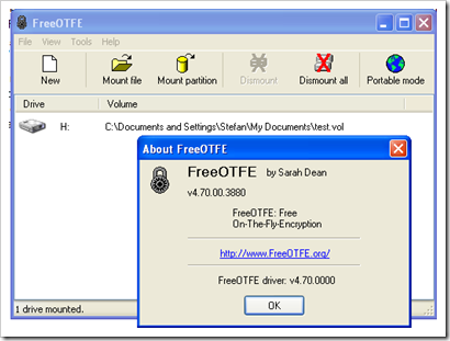 FreeOTFE Encrypts Files On Hard Drives, CD and USB Sticks