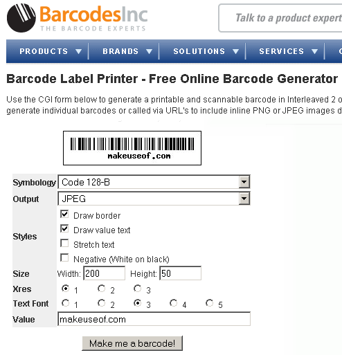 Barcode Label Printer: Free Online Barcode Generator