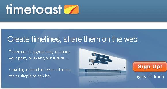 timetoast interactive timeline creator