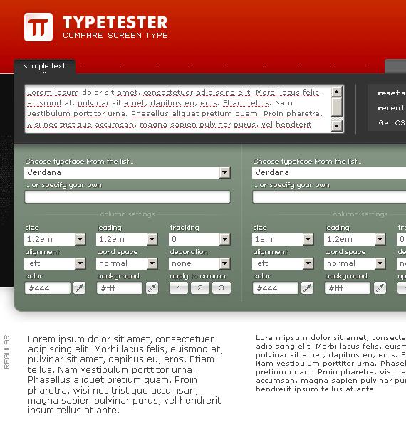 comparing fonts