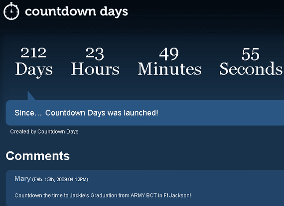 countdown days hours minutes