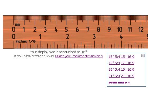 Iruler Displays A Ruler On Your Computer Screen