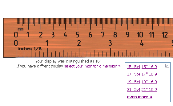ruler on your computer