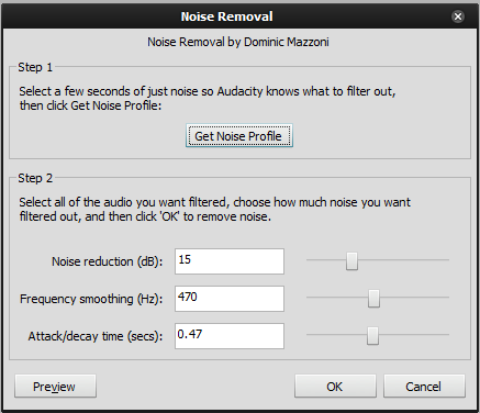 Removing Noise
