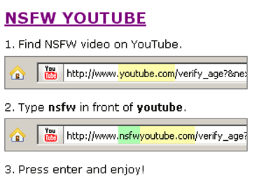 nsfwyoutube   NSFWYouTube: Watch Flagged YouTube Videos Without Logging In To Your Account