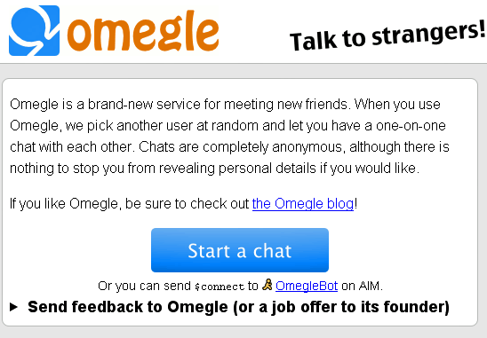 omegle1   Omegle: Chat With Strangers