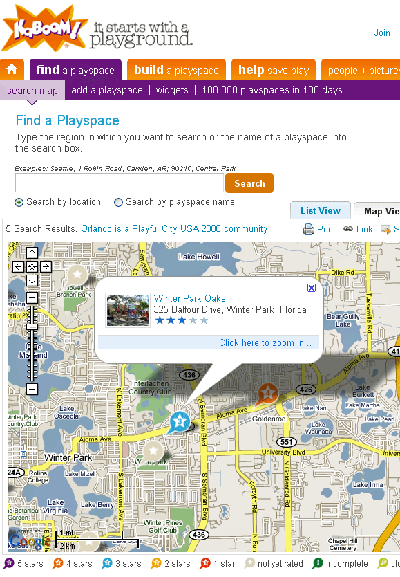 playspacefinder   PlaySpaceFinder: Playground Locator