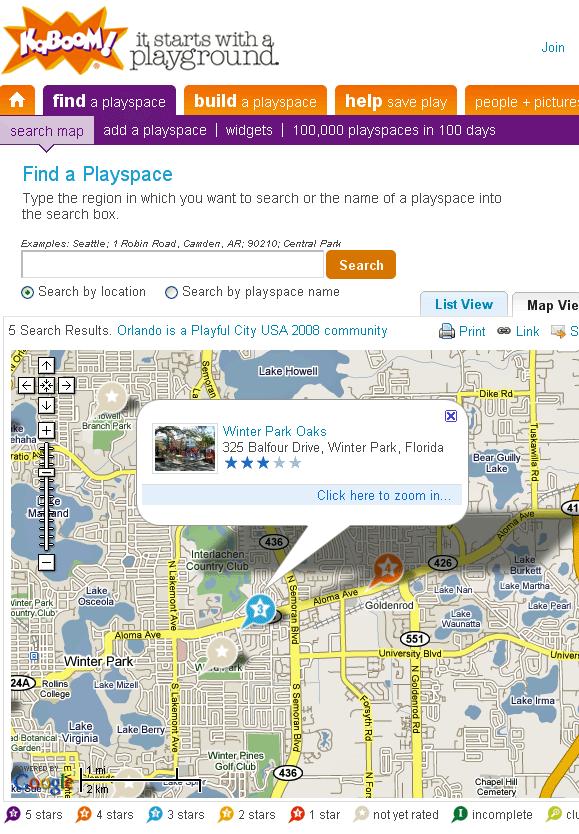 playspacefinder   PlaySpaceFinder: Playground Locator