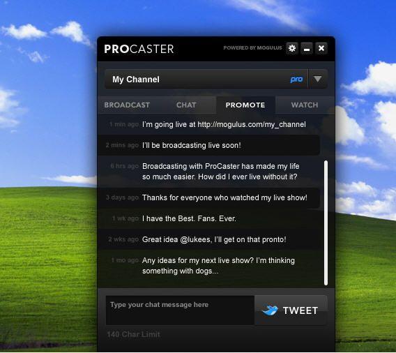 broadcast your desktop live