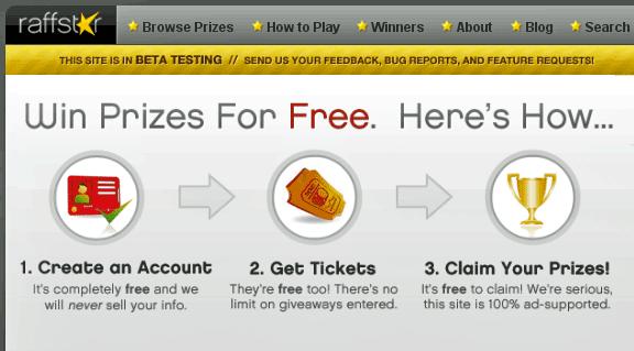 win free prizes online