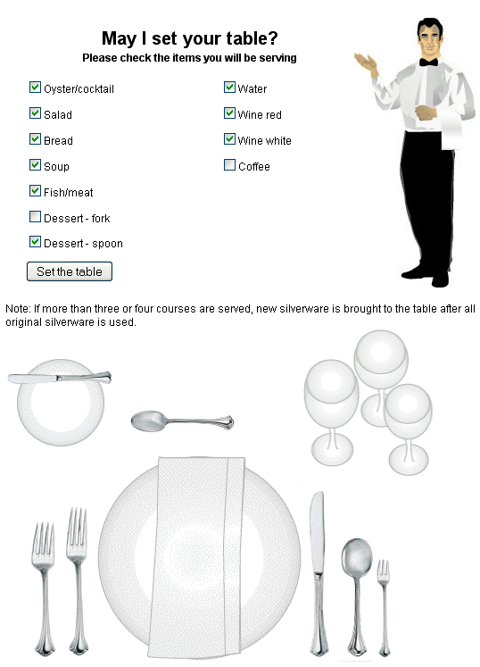 how to set up table