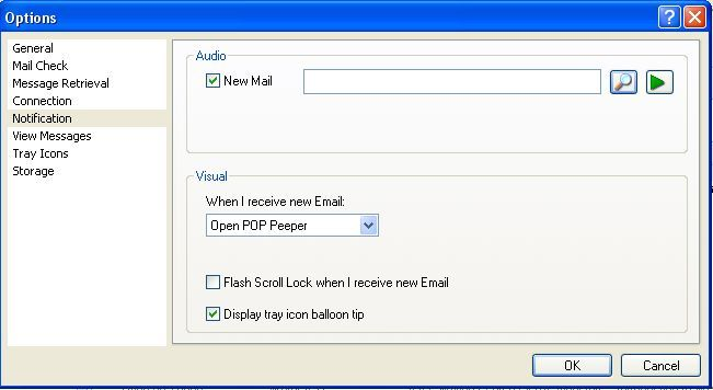 Check All Emails & Get Email Alerts with POP Peeper (Windows) setup notify11
