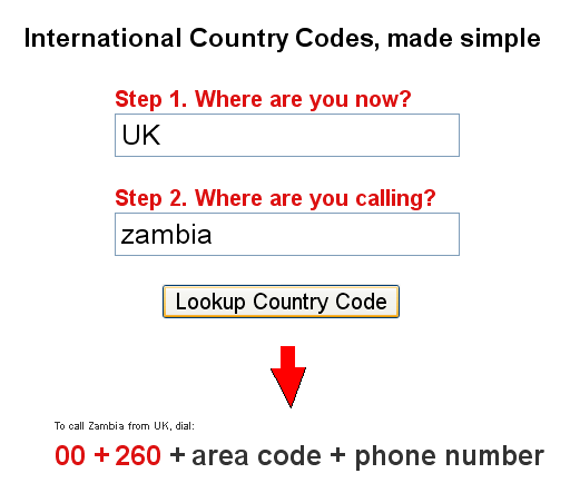 find international calling codes