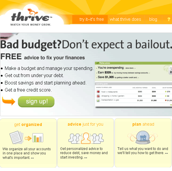 thrive   Thrive: Organize Your Budget & Plan Ahead