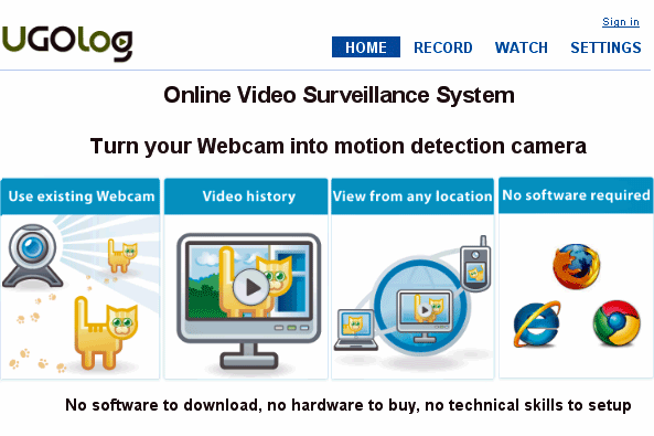 monitor your home over the internet