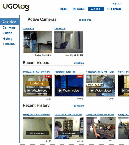 web camera monitoring
