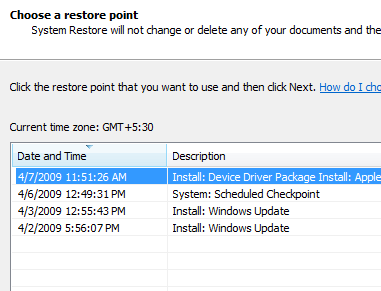 How To Roll Back Windows Hot Fixes & Patches vista chose restore