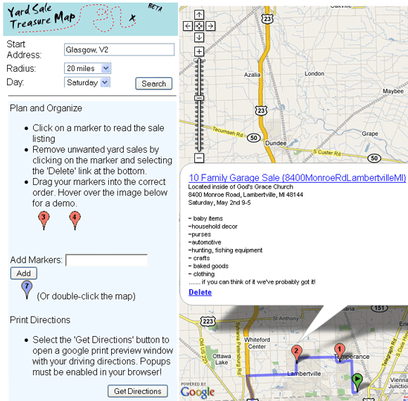 yardsaletreasure map   YardSaleTreasureMap: Yard Sale Locator