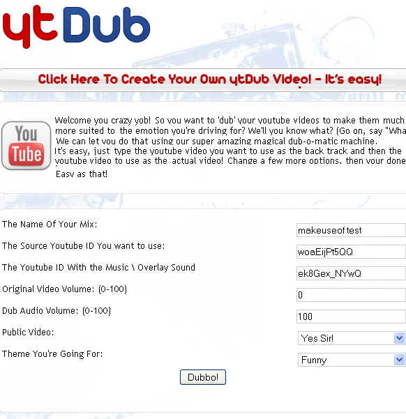 ytdub   YtDub: YouTube Video Dubbing Tool