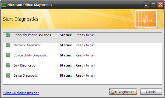 How to Fix Microsoft Office Problems with MS Office Diagnostics 3 run diagnostic