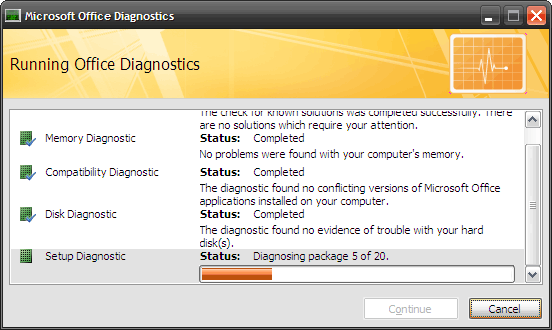 How to Fix Microsoft Office Problems with MS Office Diagnostics 4 test