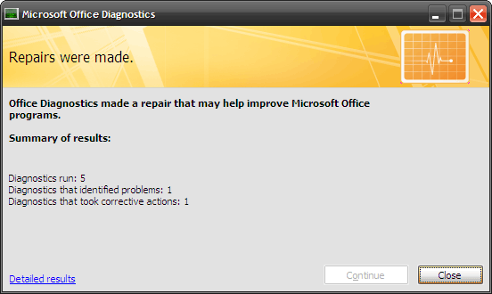 How to Fix Microsoft Office Problems with MS Office Diagnostics 5 finished test