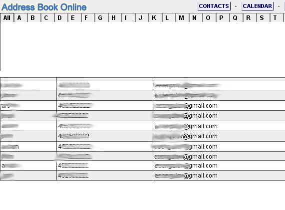 online address book