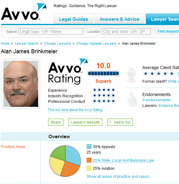 find lawyer ratings