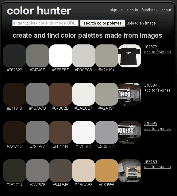 color palette from an image