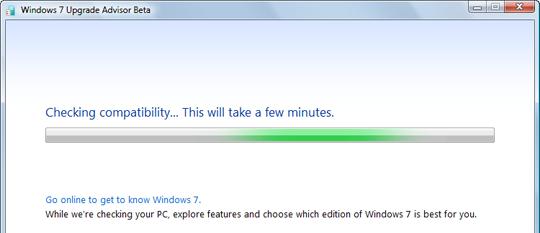 windows 7 upgrade advisor not working