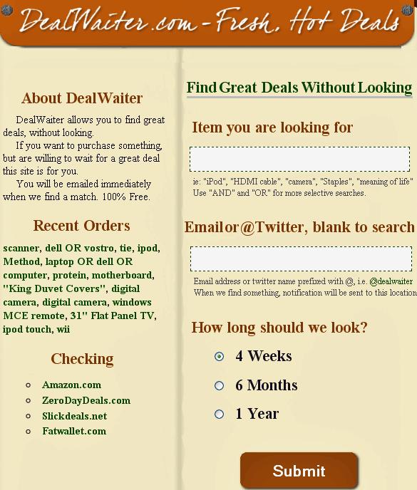 deal notifier