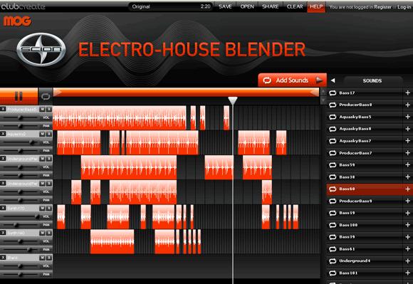 electroblender   Electro House Blender: Online Music Mixer