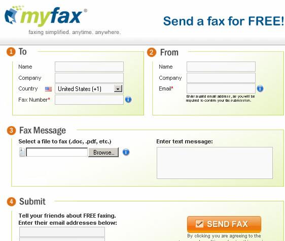 send free fax via internet
