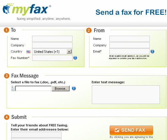 send free fax via internet