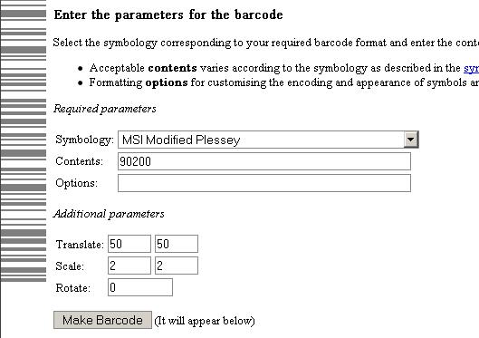 printable barcode labels