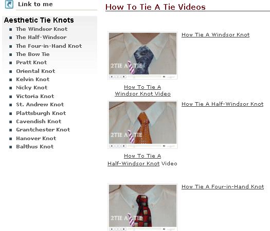 tie a tie video