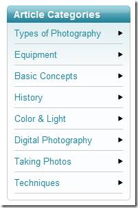 5 Websites to Learn a LOT More About Photography & DigiCams photophotographycategories