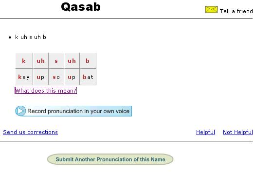 correct name pronunciations