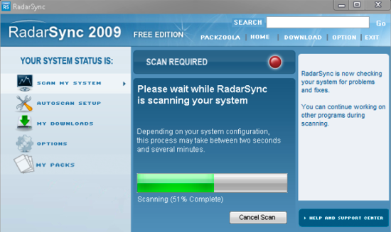 Download Junkies, Update Your System With RadarSync