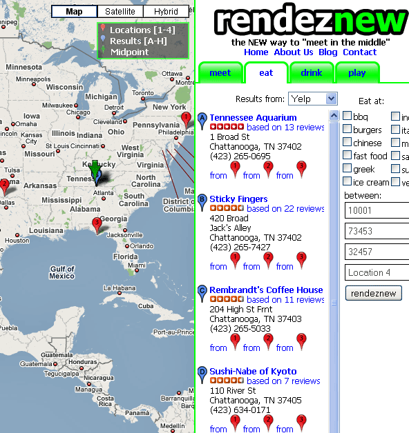 rendeznew   Rendeznew: Find A Midpoint Between Two Addresses